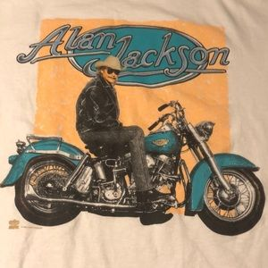 Hanes Shirts - Vintage Alan Jackson single stitch Sz large